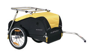 Burley Nomad trailer with rack