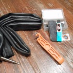 Bicycle tube & bicycle tube patch kit