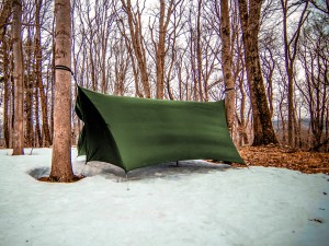 ENO HouseFly tarp in the snow