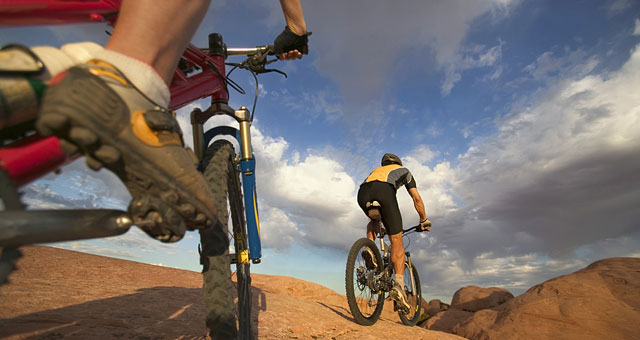 Moab Mountain Bike Slickrock Fall Biking