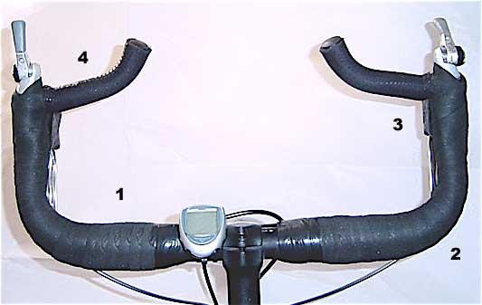 Cowhorn Handlebar with bar ends